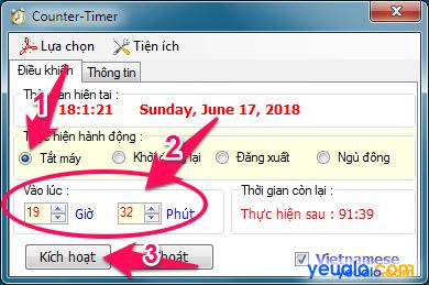 Cách hẹn giờ tắt máy tính 5