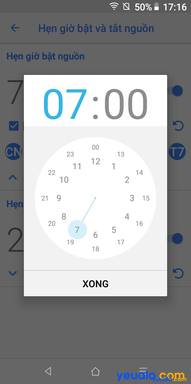 Cách hẹn giờ tắt mở nguồn trên Vsmart 5