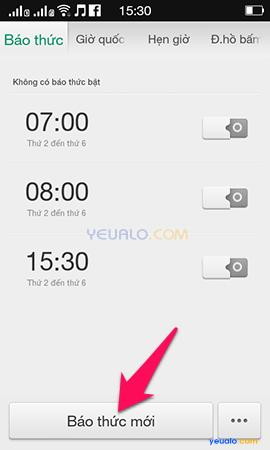 Cách hẹn giờ báo thức trên điện thoại OPPO 2