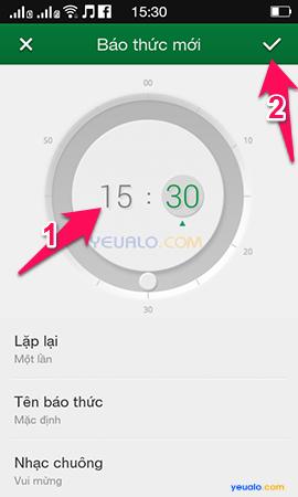 Cách hẹn giờ báo thức trên điện thoại OPPO 3