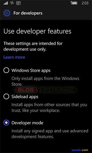 Hướng dẫn interop unlock máy Windows 10 Mobile không cần máy tính 2