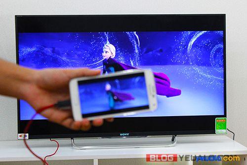 Cách kết nối, chiếu màn hình điện thoại lên Tivi 7