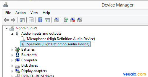 Cách khắc phục máy tính không nhận tai nghe mất âm thanh 2