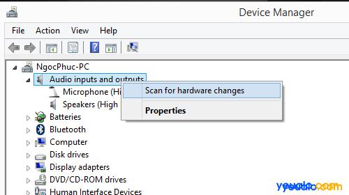 Cách khắc phục máy tính không nhận tai nghe mất âm thanh 3