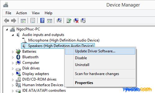 Cách khắc phục máy tính không nhận tai nghe mất âm thanh 4