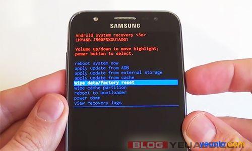 Cách khôi phục cài đặt gốc điện thoại Samsung Galaxy 2