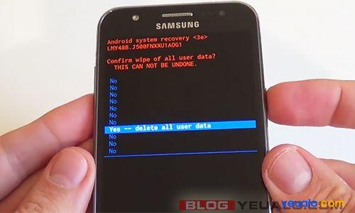 Cách khôi phục cài đặt gốc điện thoại Samsung Galaxy 3