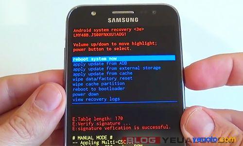 Cách khôi phục cài đặt gốc điện thoại Samsung Galaxy 4