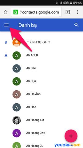 Cách lấy lại danh bạ đã bị xóa trên điện thoại Android, Samsung Galaxy, Xiaomi, Oppo 1