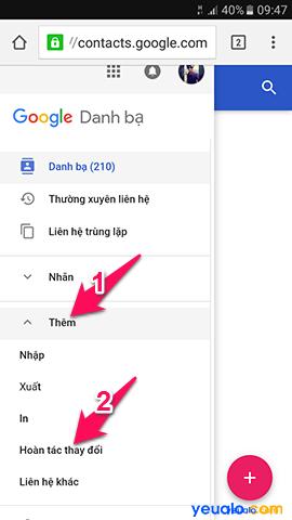 Cách lấy lại danh bạ đã bị xóa trên điện thoại Android, Samsung Galaxy, Xiaomi, Oppo 3