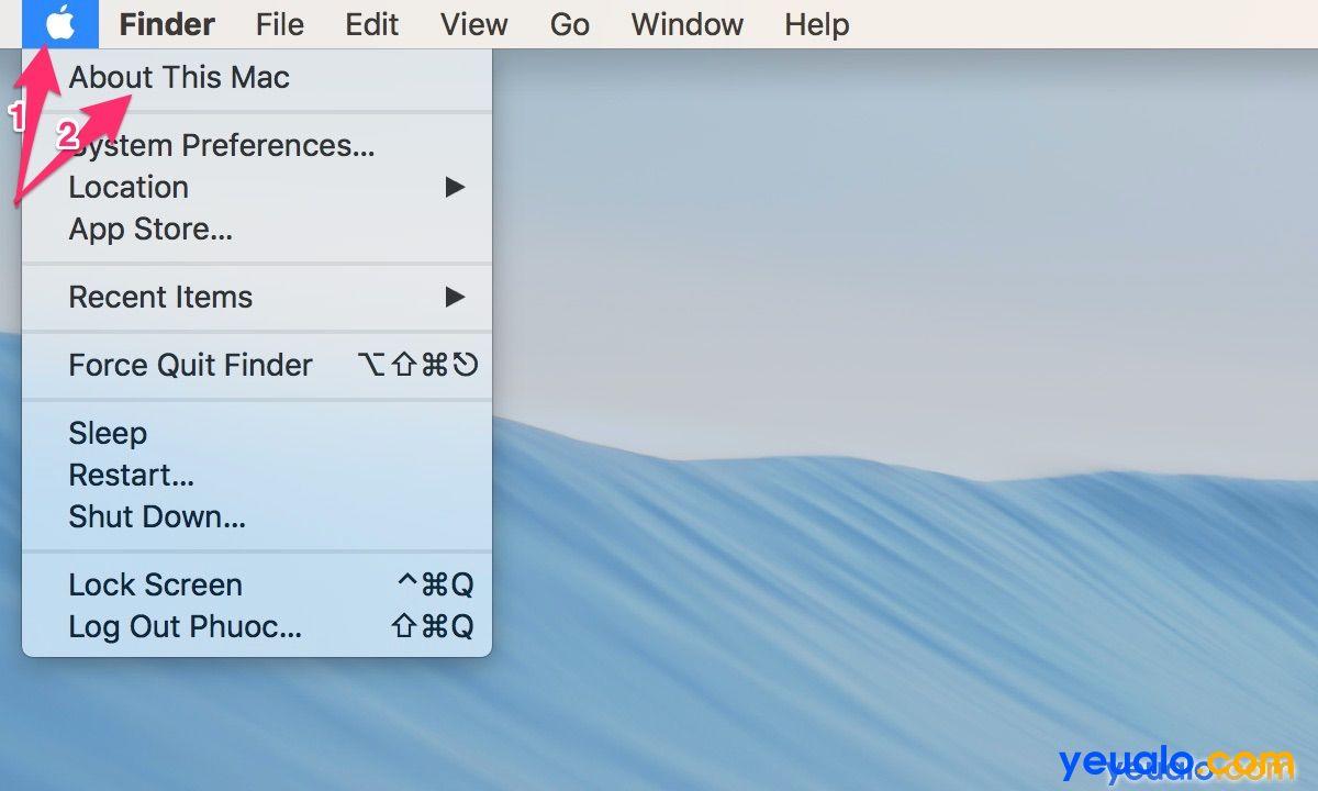 Cách kiểm tra cấu hình Macbook 1