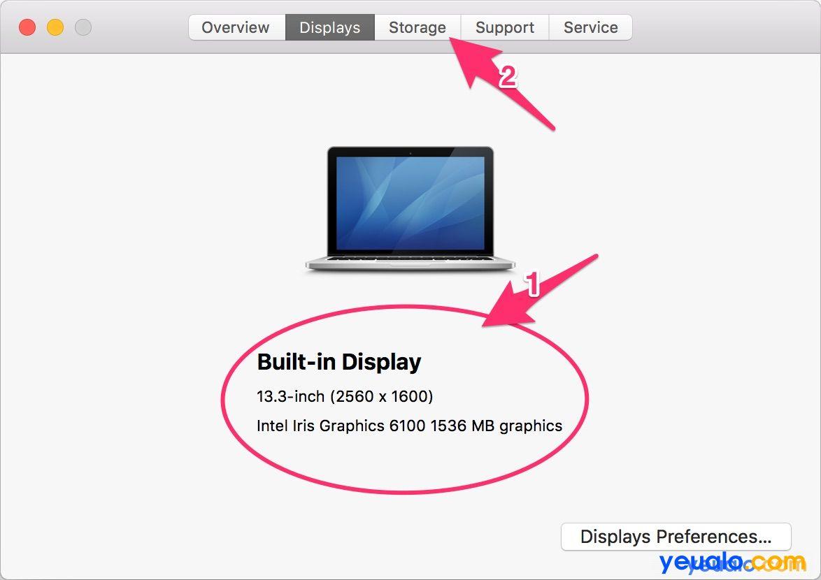 Cách kiểm tra cấu hình Macbook 3