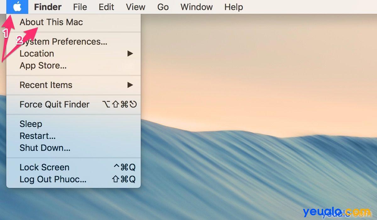 Cách kiểm tra dung lượng ổ cứng Macbook