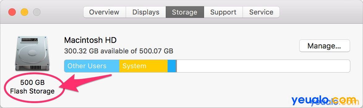 Cách kiểm tra dung lượng ổ cứng Macbook 3
