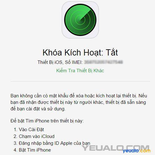 Cách kiểm tra iPhone, iPad có bị dính iCloud hay không 2