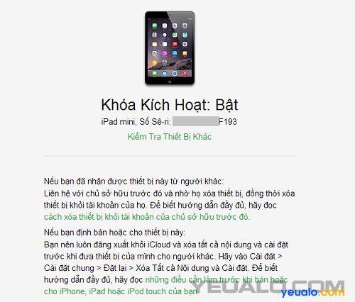Cách kiểm tra iPhone, iPad có bị dính iCloud hay không 3