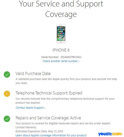 Cách kiểm tra ngày kích hoạt thời gian bảo hành iPhone 2