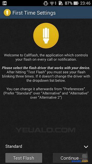 Cách làm đèn Flash LED nháy sáng khi có cuộc gọi, tin nhắn, hay thông báo 1