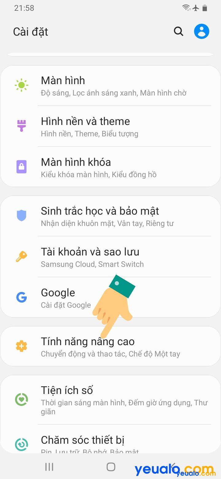Cách lật úp điện thoại để tắt chuông trên Samsung 2