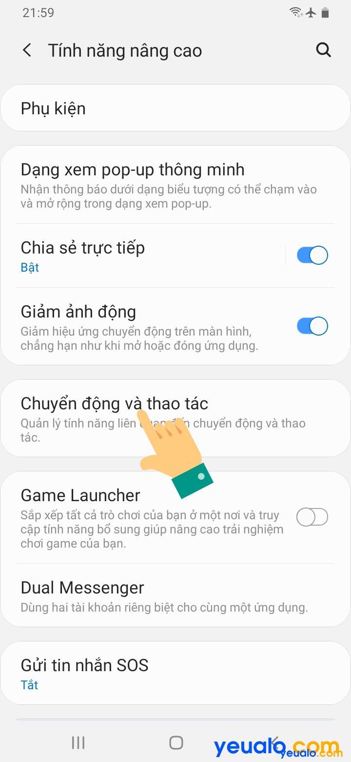 Cách lật úp điện thoại để tắt chuông trên Samsung 3