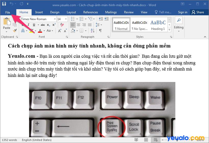 Cách lấy ảnh từ file Word