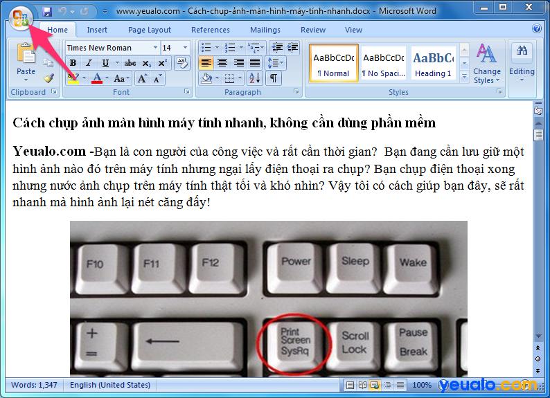 Cách lấy ảnh từ file Word 2007 1