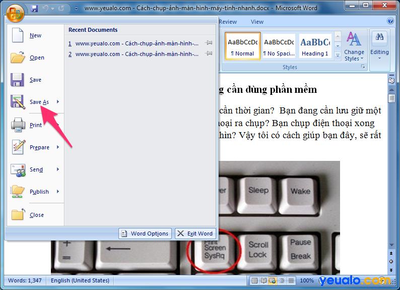 Cách lấy ảnh từ file Word 2007 2