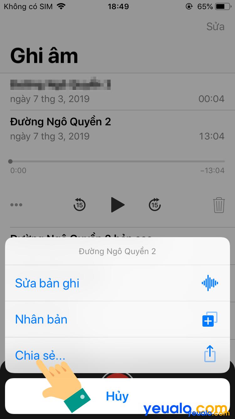 Cách lấy file ghi âm từ iPhone sang máy tính 4