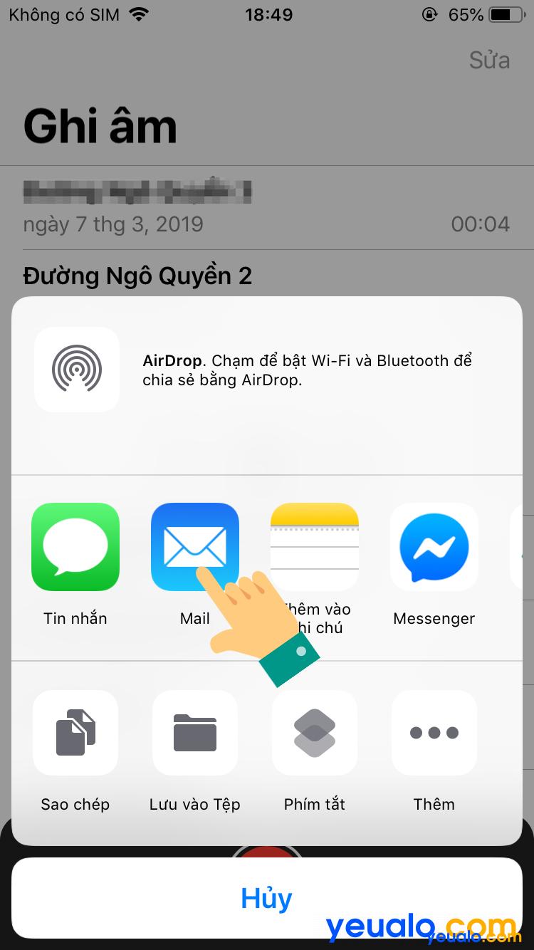 Cách lấy file ghi âm từ iPhone sang máy tính 5