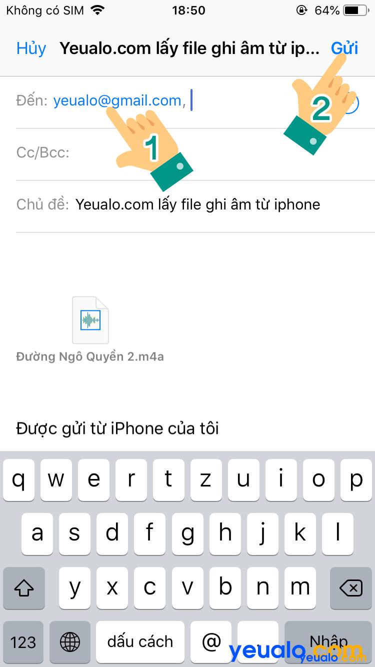 Cách lấy file ghi âm từ iPhone sang máy tính 6