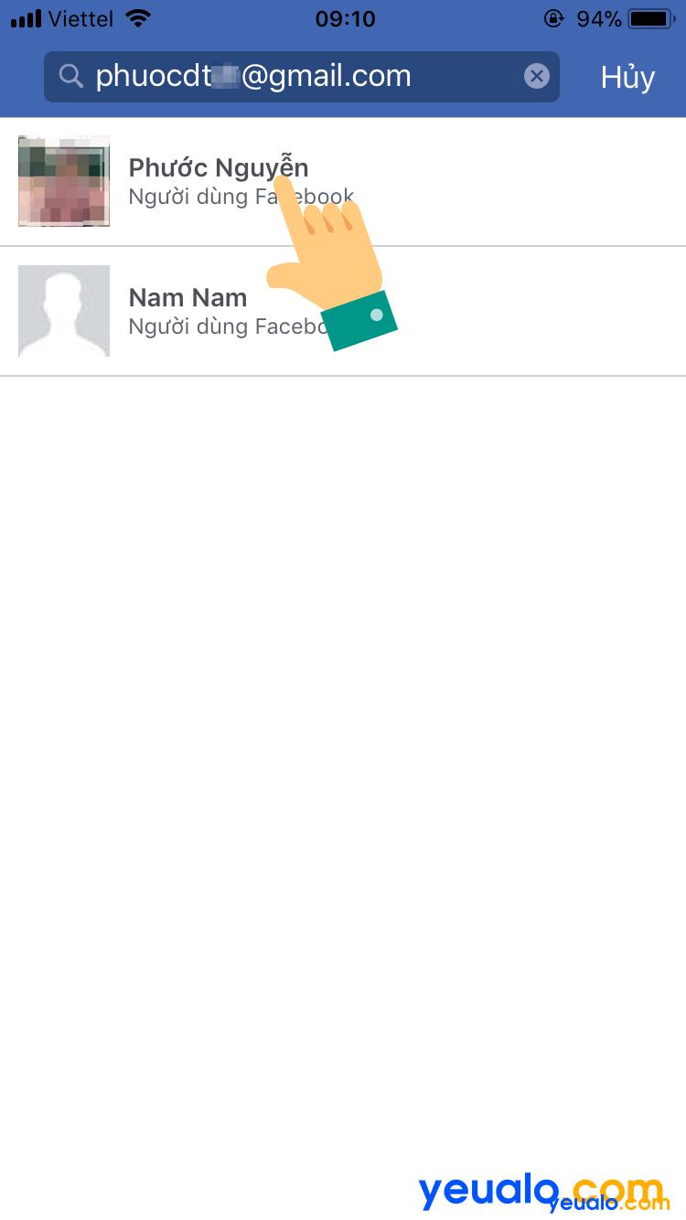 Cách lấy lại mật khẩu Facebook bằng Gmail trên điện thoại 3