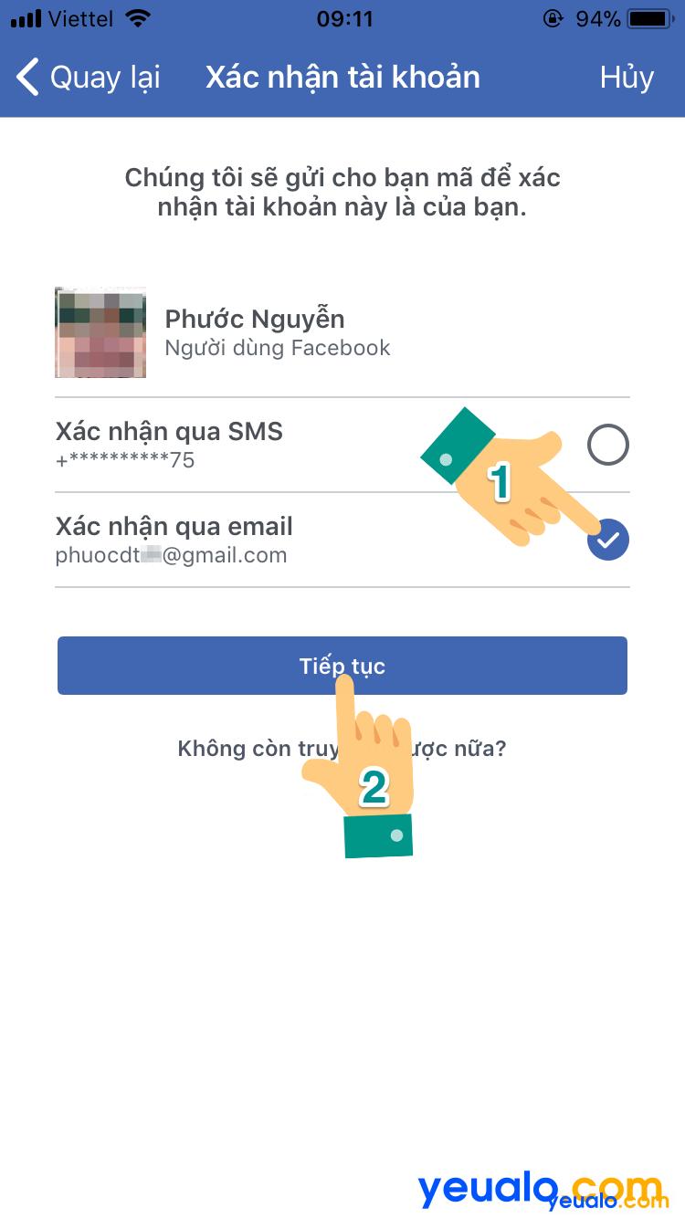 Cách lấy lại mật khẩu Facebook bằng Gmail trên điện thoại 4