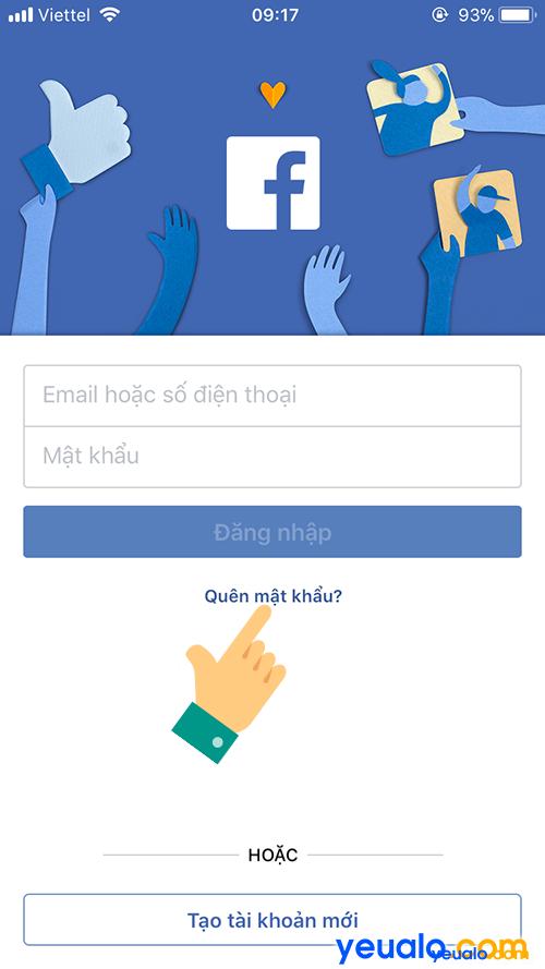 Cách lấy mật khẩu Facebook bằng điện thoại 2