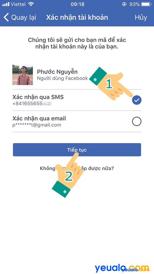 Cách lấy mật khẩu Facebook bằng số điện thoại 4