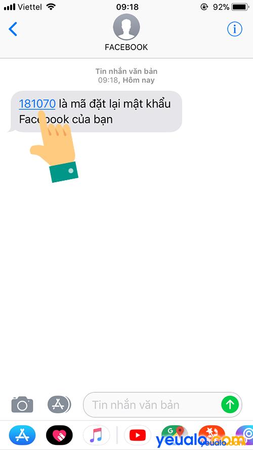 Cách lấy mật khẩu Facebook bằng số điện thoại 6
