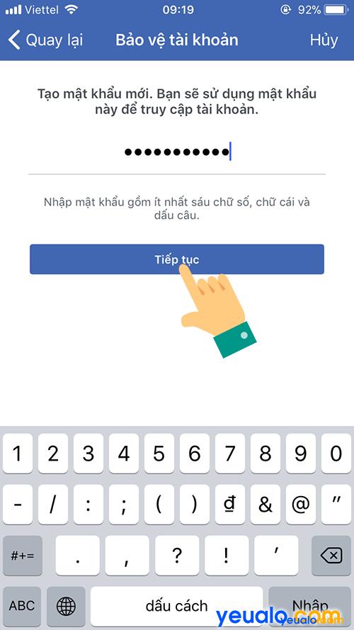 Cách lấy mật khẩu Facebook bị quên bằng điện thoại 9