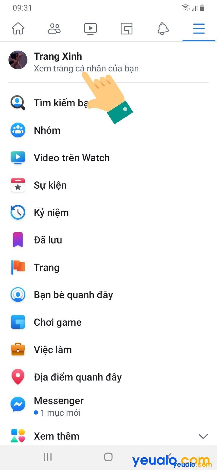 Cách lấy link Facebook của mình trên điện thoại 2