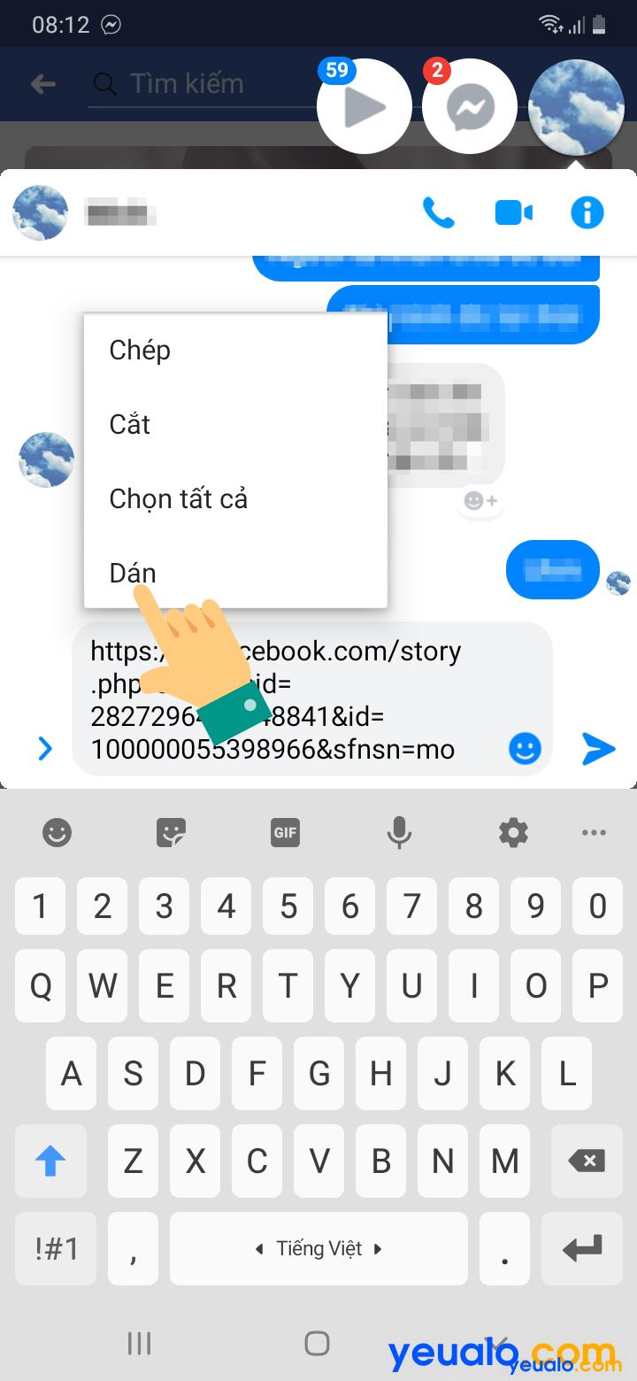 Cách lấy link bài viết, ảnh, video Facebook trên điện thoại