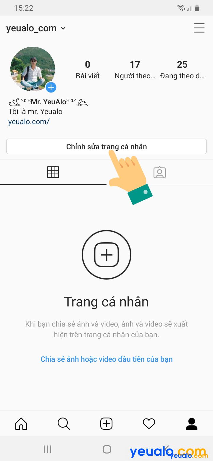 Cách lấy link instagram của mình 2