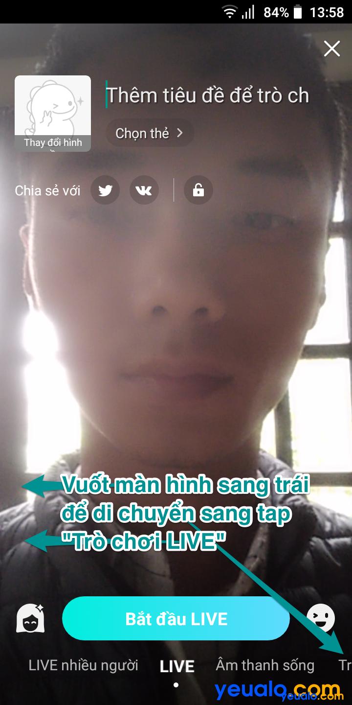 Cách live stream màn hình điện thoại trên Bigo 2