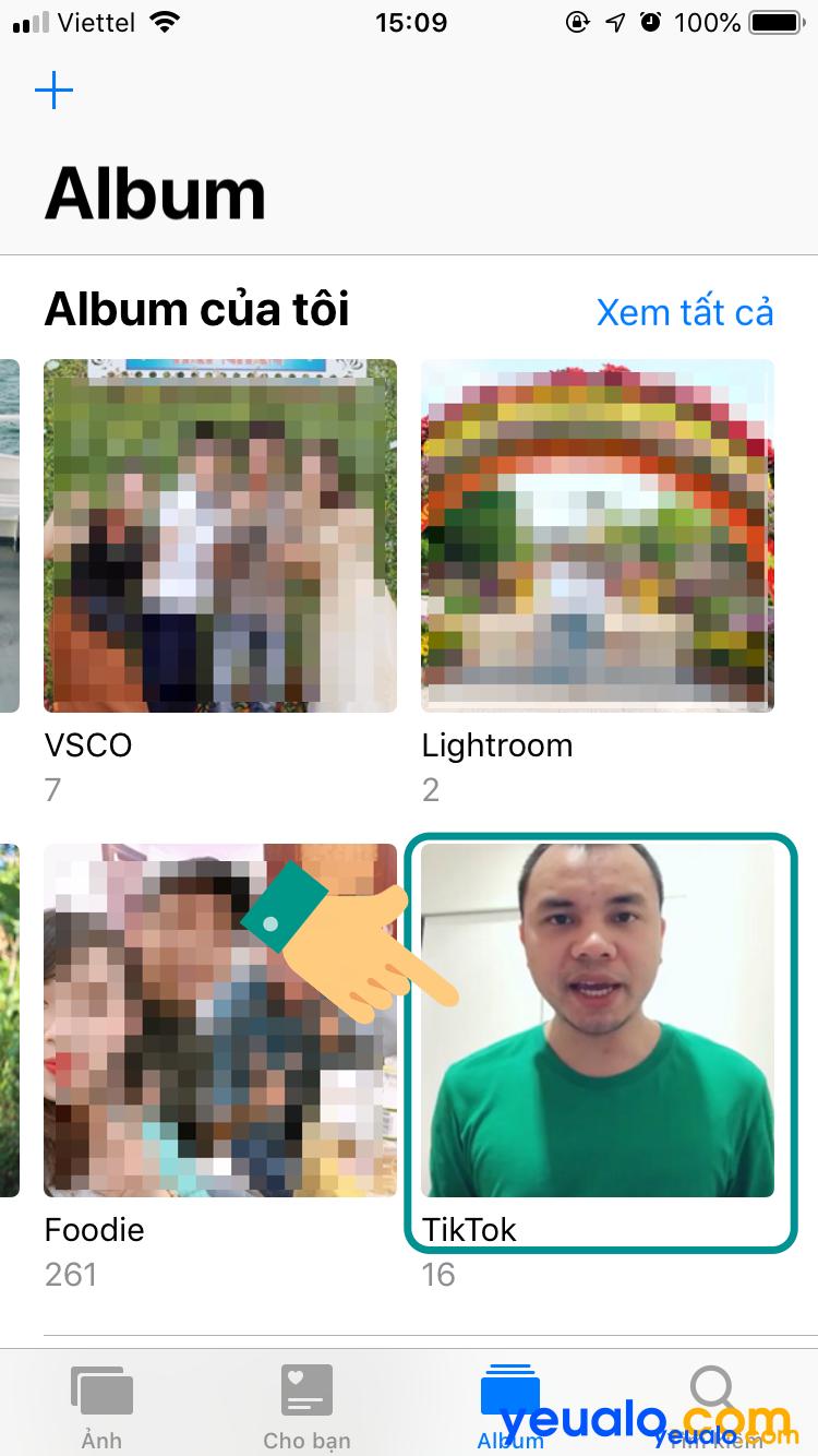 Cách xem video Tik Tok vừa lưu trên iPhone 4