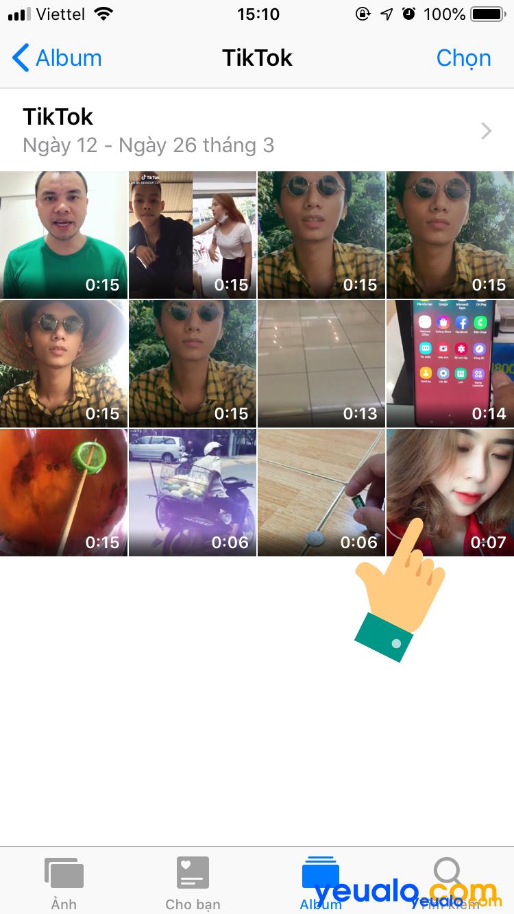 Cách xem video Tik Tok vừa lưu trên iPhone 5