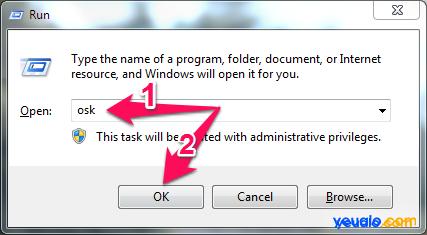 Cách mở bàn phím giả lập trên máy tính laptop