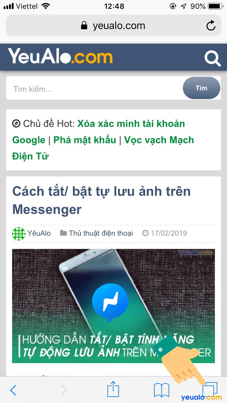 Cách mở tab ẩn danh Safari trên iPhone 2
