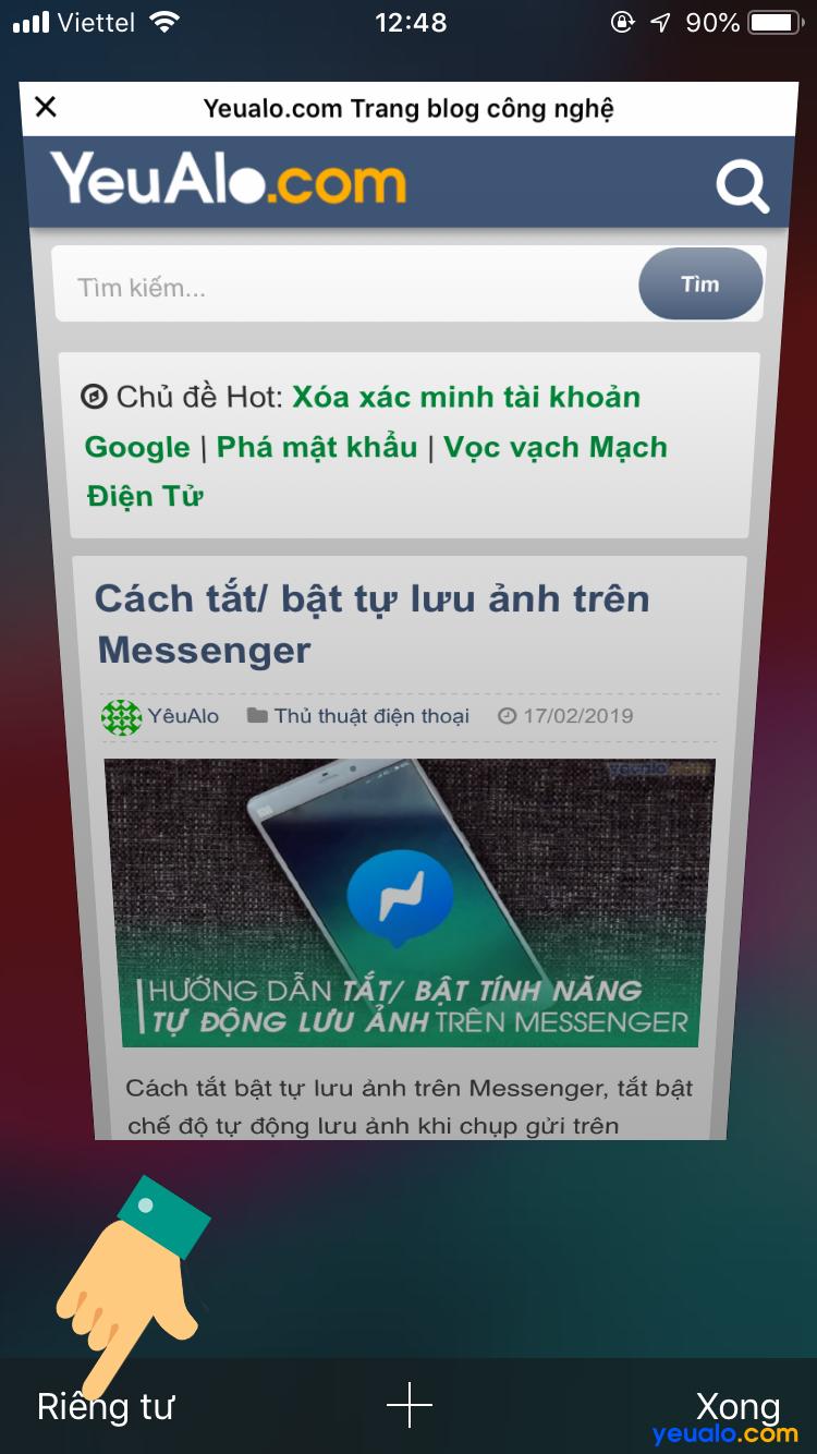 Cách mở tab ẩn danh Safari trên iPhone 3