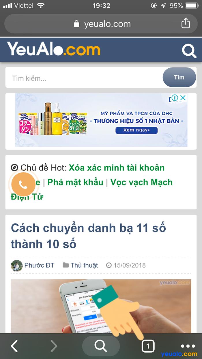 Cách mở tab ẩn danh trên Chrome điện thoại 5