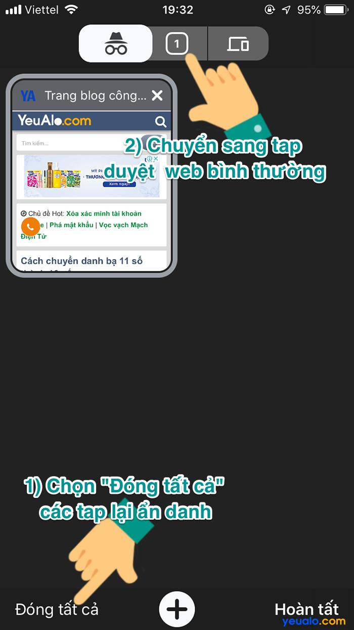 Cách mở tab ẩn danh trên Chrome điện thoại 6