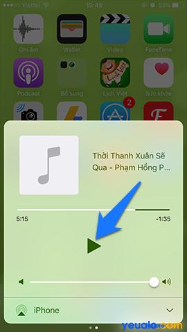 Cách nghe nhạc Youtube khi tắt màn hình trên iPhone 6