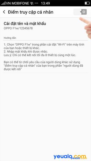 Cách phát Wifi Oppo 4