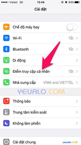 Cách phát Wifi trên điện thoại iPhone 2